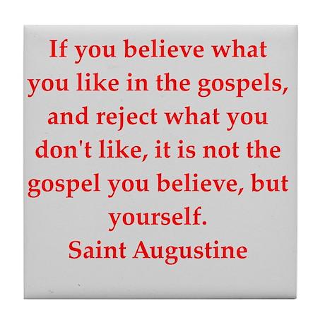 St Augustine Tile Coaster