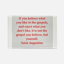 St Augustine Rectangle Magnet
