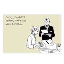 Remind Me It Was Your Birthday Postcards (Package