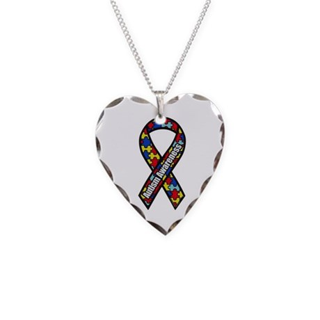 Autism Awareness Necklace Heart Charm