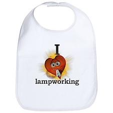 I heart / love lampworking Bib