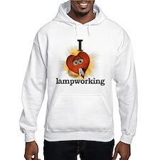 I heart / love lampworking Hoodie
