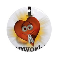 I heart / love lampworking Ornament (Round)