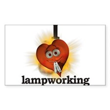I heart / love lampworking Rectangle Decal