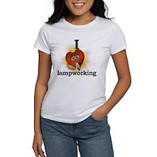 I heart / love lampworking Tee