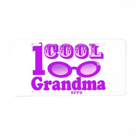 1 Cool Grandma Aluminum License Plate