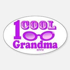 1 Cool Grandma Sticker (Oval)