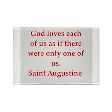 Unique Saint augustine Rectangle Magnet