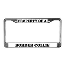 Property Of A Border Collie License Plate Frame