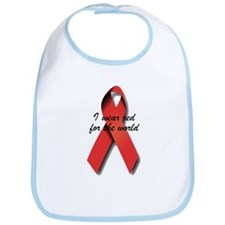 I Wear Red For The World. Bib