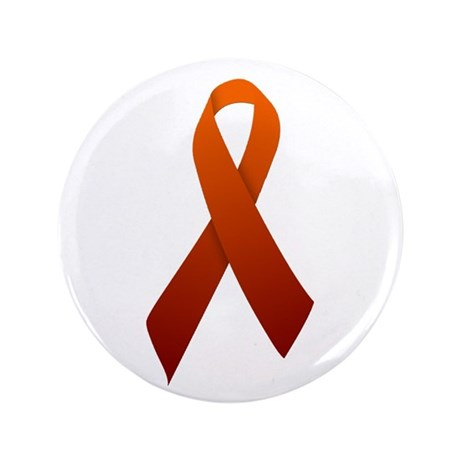 "Orange Ribbon 3.5"" Button (100 pack)"