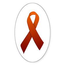 Orange Ribbon Decal