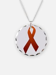 Orange Ribbon Necklace