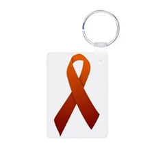 Orange Ribbon Keychains