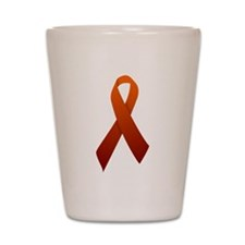 Orange Ribbon Shot Glass