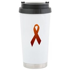 Orange Ribbon Travel Coffee Mug