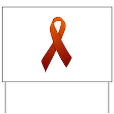 Orange Ribbon Yard Sign