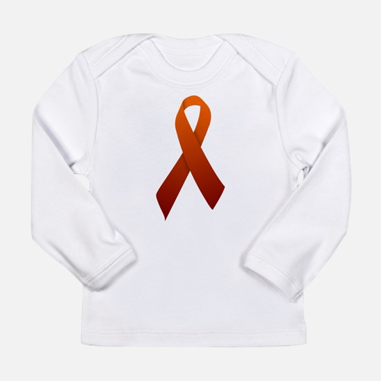 Orange Ribbon Long Sleeve Infant T-Shirt