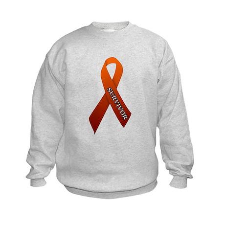 Orange Ribbon 'Survivor' Kids Sweatshirt
