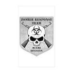Zombie Response Team: Miami Division Sticker (Rect