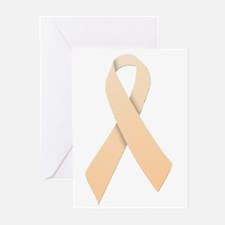 Peach Ribbon Greeting Cards (Pk of 20)