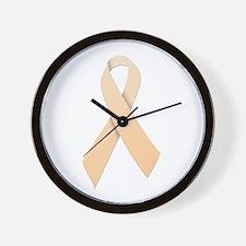 Peach Ribbon Wall Clock
