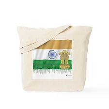Silky Flag of India (Hindi) Tote Bag