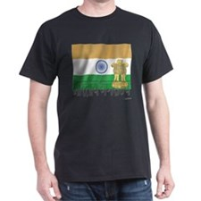 Silky Flag of India (Hindi) T-Shirt