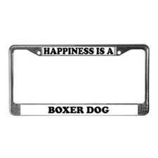 Happiness Is A Boxer License Plate Frame