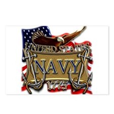 US Navy Flag Anchors and Eagl Postcards (Package o