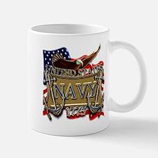 US Navy Flag Anchors and Eagl Mug