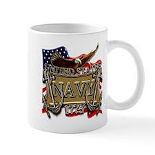 US Navy Flag Anchors and Eagl Small Mug