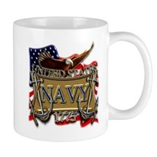 US Navy Flag Anchors and Eagl Small Small Mug