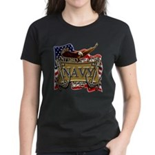 US Navy Flag Anchors and Eagl Tee