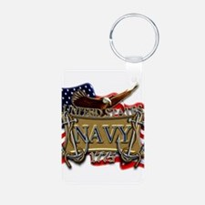 US Navy Flag Anchors and Eagl Keychains