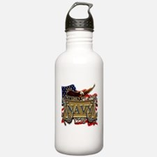 US Navy Flag Anchors and Eagl Water Bottle