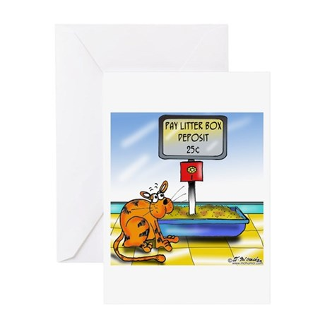Pay Litter Box Greeting Card