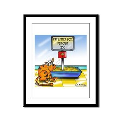 Pay Litter Box Framed Panel Print