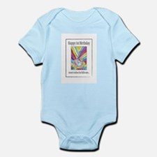 Cute First birthday rainbow Infant Bodysuit