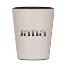 Jana Carved Metal Shot Glass