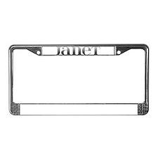 Janet Carved Metal License Plate Frame