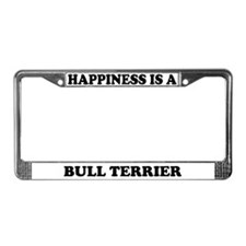 Happiness Is A Bull Terrier License Plate Frame
