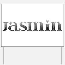 Jasmin Carved Metal Yard Sign