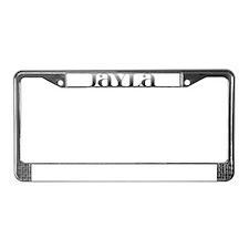Jayla Carved Metal License Plate Frame