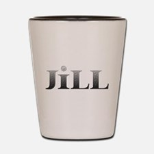 Jill Carved Metal Shot Glass