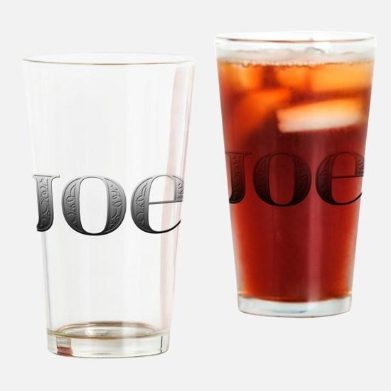 Joe Carved Metal Drinking Glass
