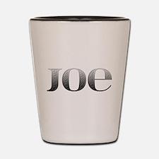 Joe Carved Metal Shot Glass