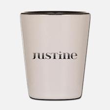 Justine Carved Metal Shot Glass