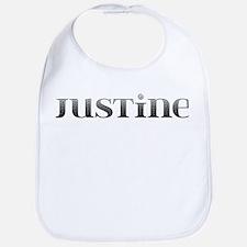 Justine Carved Metal Bib