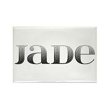 Jade Carved Metal Rectangle Magnet